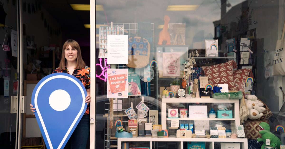 Free first use: Zoe Brennan, owner of gift shop Hell Yeah, on Pollockshaws Road, Shawlands, Glasgow. The business is one of several in Shawlands promoting the Scotland Loves Local campaign, encouraging people to choose local and back businesses in their community as part of the national recovery from the Covid-19 pandemic. The campaign is spearheaded by Scotland's Towns Partnership.  Media enquiries to Chris Story on 07375 065 728 / chris@messagematters.co.uk